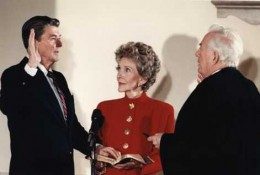 President_Reagan_being_sworn_in_for_second_term_during_the_private_ceremony_held_at_the_White_House_1985.jpg
